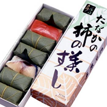 柿の葉すし 紙箱さば・さけ詰合7個入り